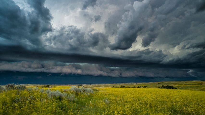 「雷雲」米国ノースダコタ州, セオドア・ルーズベルト国立公園