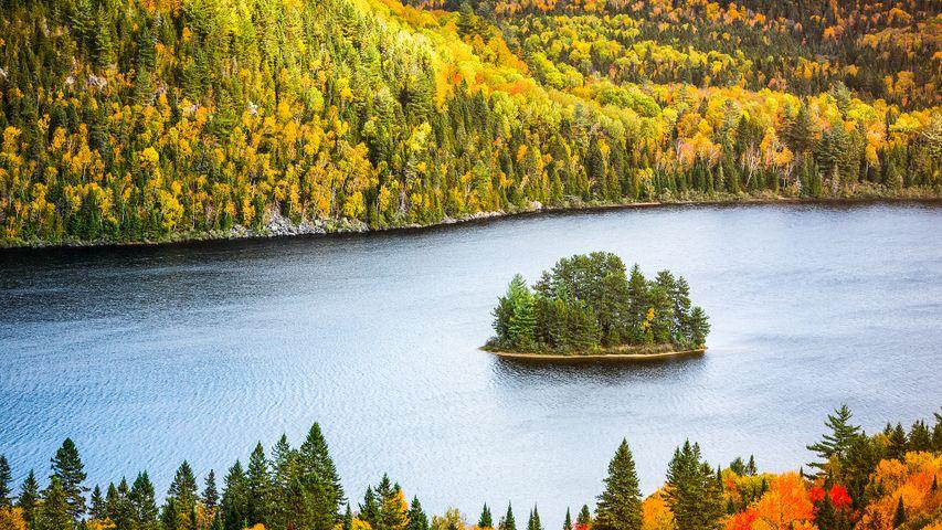 「ワピッザゴンク湖」カナダ,ケベック州