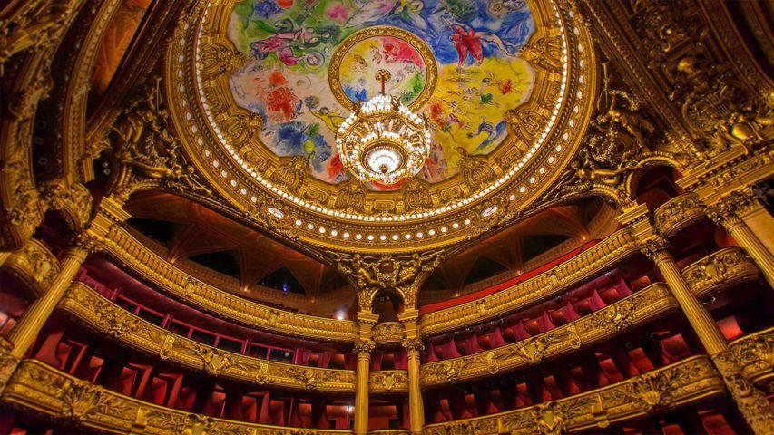「シャガールの天井画」フランス, パリ