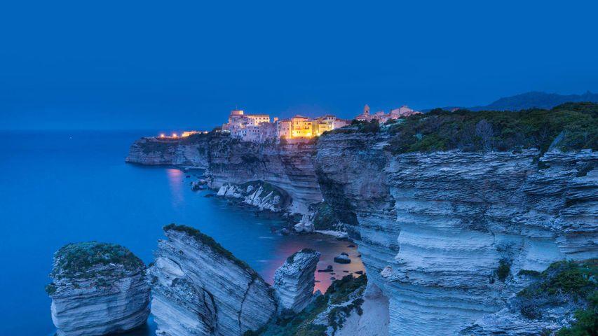 「ボニファシオの夜景」フランス, コルシカ島