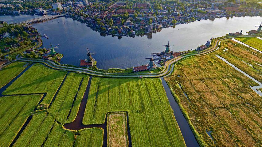 「ザーンセスカンス風車村」オランダ, アムステルダム近郊