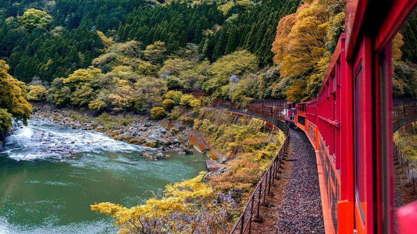 「嵯峨野観光鉄道」京都, 嵐山