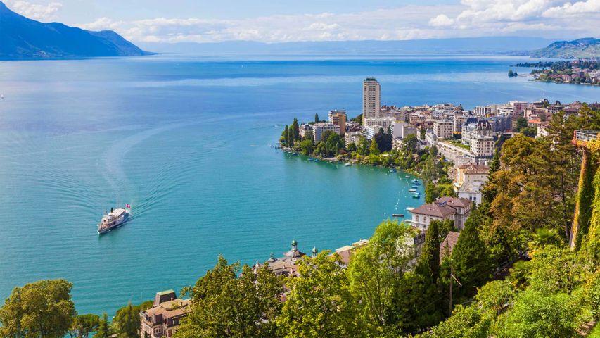 「モントルーとレマン湖」スイス, ジュネーブ