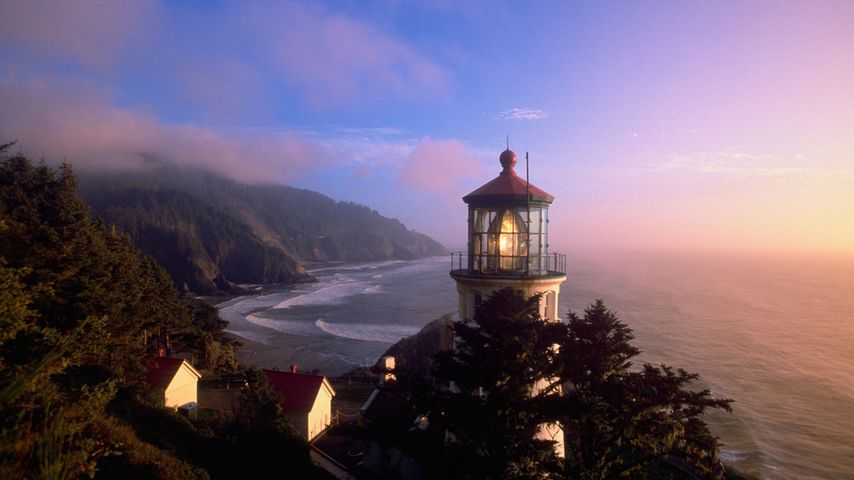 「ハシータ岬灯台」アメリカ, オレゴン州