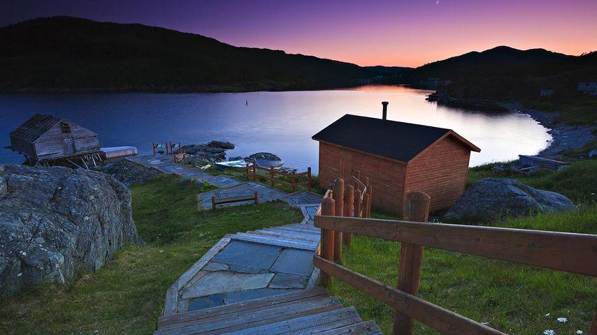「フルール・ド・リスの夕暮れ」カナダ,  ニューファンドランド・ラブラドール州
