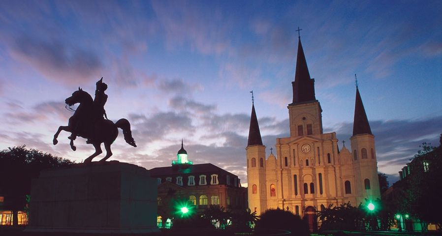 「ジャクソン・スクウェア」アメリカ, ルイジアナ州, ニューオリンズ