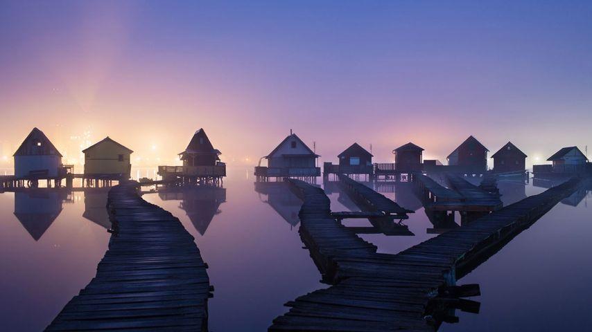 「ボコド湖のフィッシング・ハウス」ハンガリー, オロスラーニ