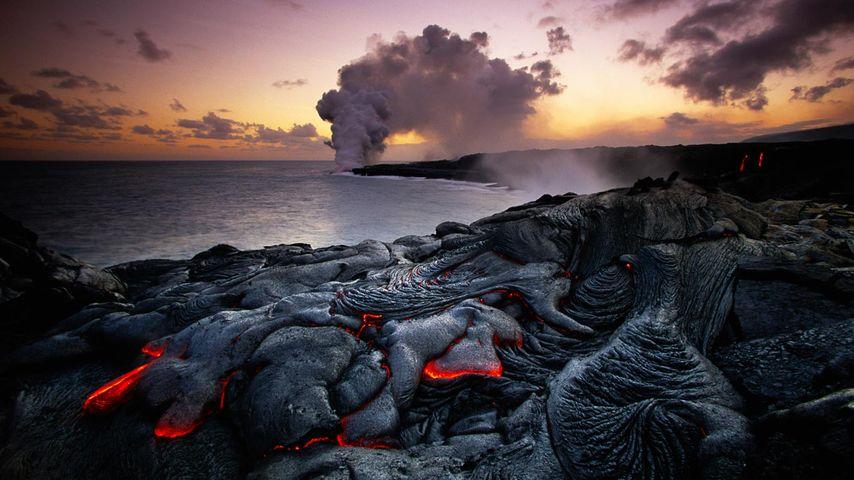 「キラウエアの噴火」ハワイ火山国立公園