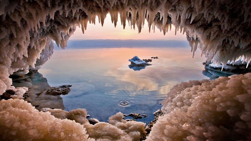 「塩の洞窟」ヨルダン