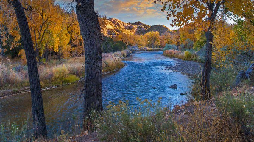 「リオ・グランデ川」米国ニューメキシコ州