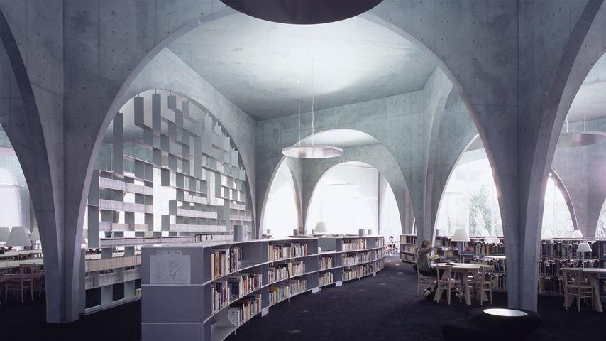 「多摩美術大学図書館」東京, 八王子市