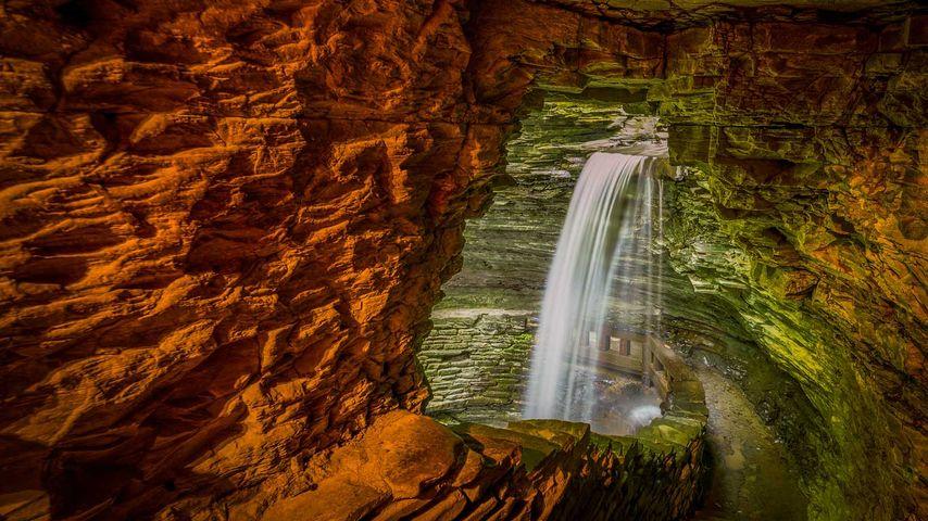 「ワトキンスグレン州立公園」アメリカ, ニューヨーク州