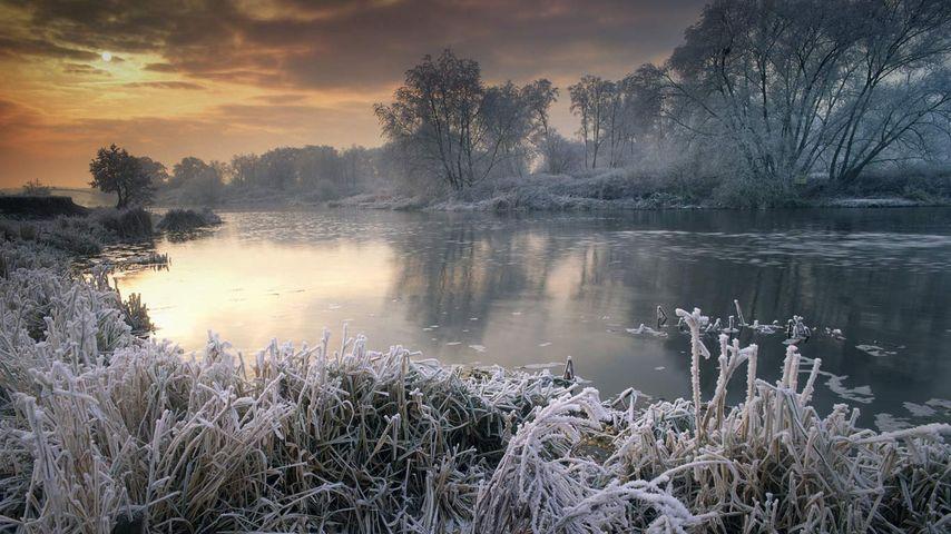 「エイボン川」イギリス, ウースターシャー