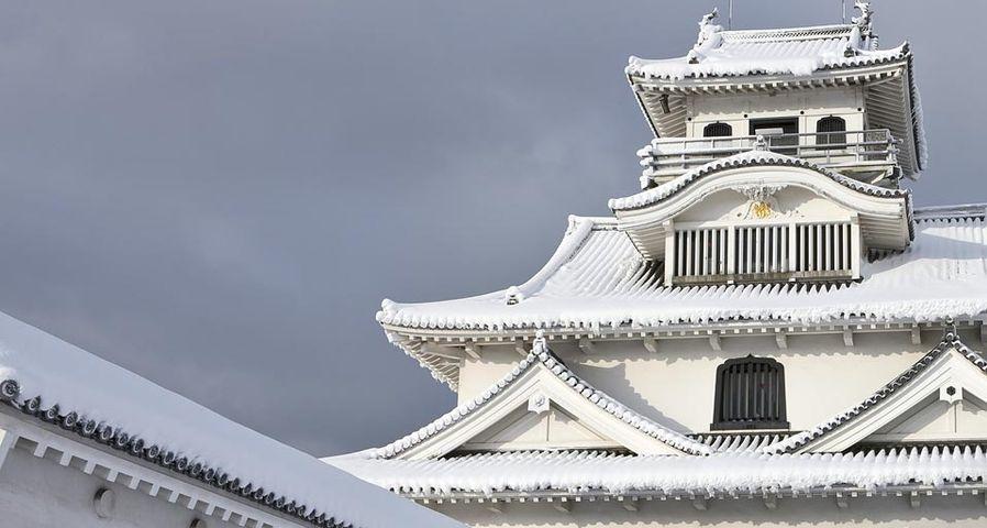 「雪の長浜城」滋賀, 長浜市