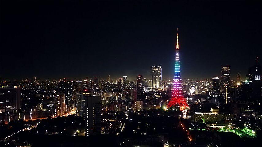 「クリスマスの東京タワー」東京, 港区