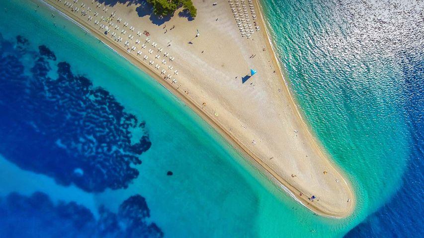 「ズラトニ・ラット・ビーチ」クロアチア, ブラチ島