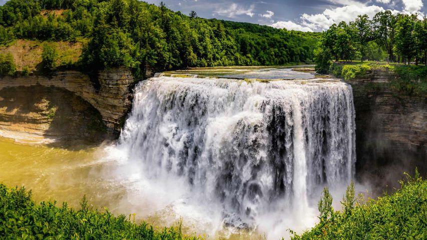 「ミドル・フォールズ」米国ニューヨーク州, レッチワース州立公園