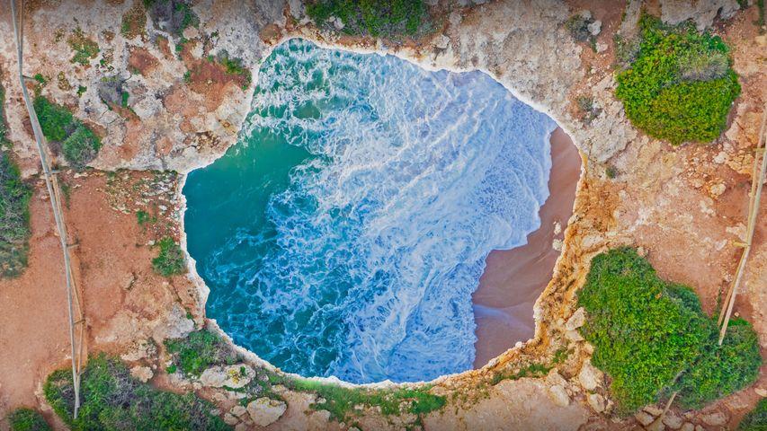 「ベナジル海中洞窟」ポルトガル, アルガルヴェ