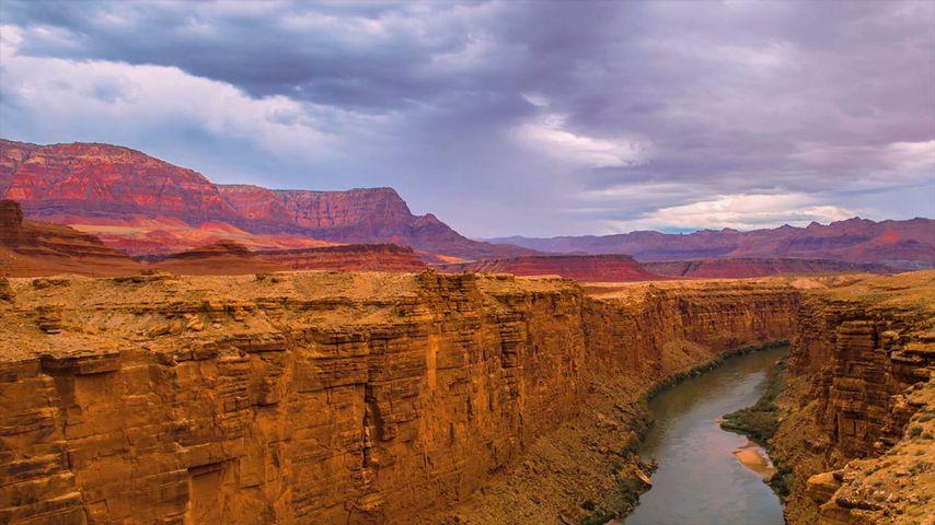 「マーブル・キャニオンとコロラド川」アメリカ, アリゾナ州