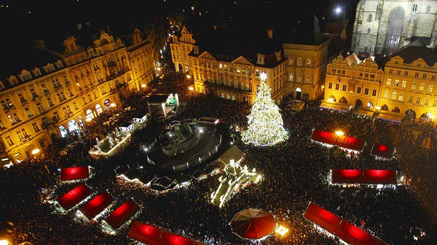 「クリスマスマーケット」チェコ, プラハ