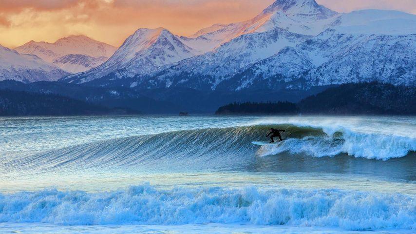 「カチェマック湾」アメリカ, アラスカ州