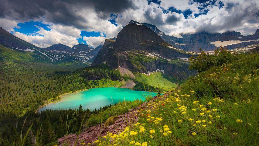 「グレイシャー国立公園のグリネル氷河」米国, モンタナ州