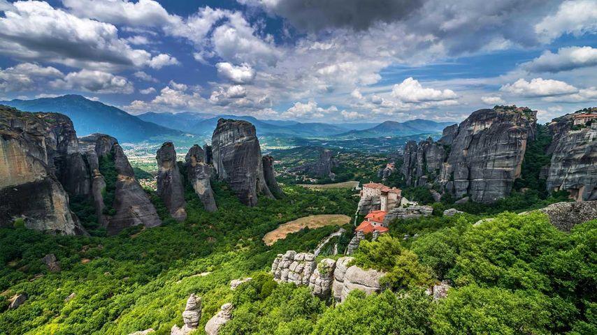 「ルサヌ修道院」ギリシャ, メテオラ