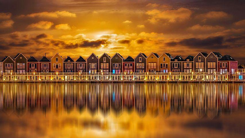 「ハウテンの街並み」オランダ, ユトレヒト州