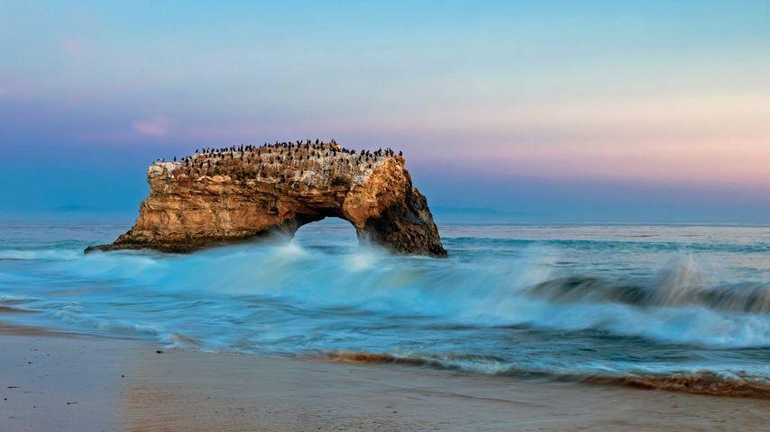 「ナチュラル・ブリッジ・ステートビーチ」アメリカ, カリフォルニア州