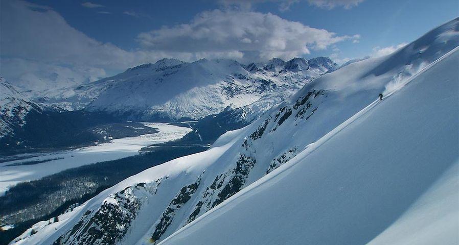 「バルディーズのスキーヤー」アメリカ, アラスカ