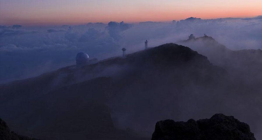 「ロケ・デ・ロス・ムチャーチョス天文台」スペイン, カナリア諸島, ラ・パルマ島