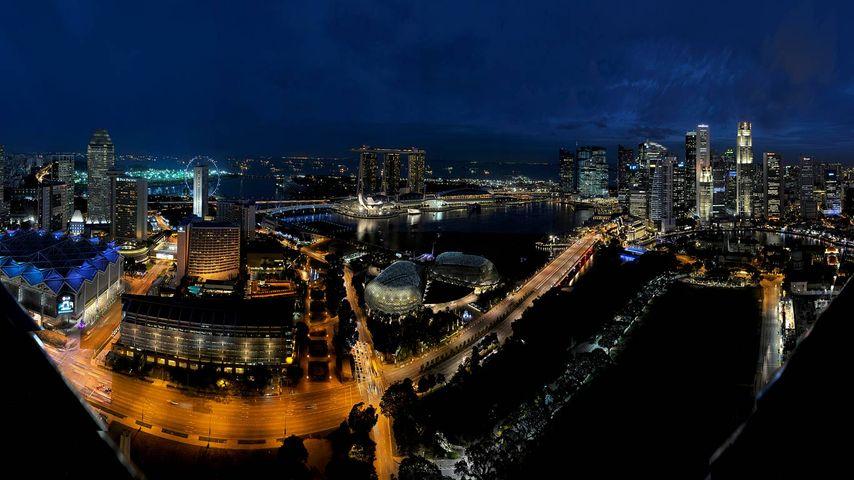 「マリーナ・ベイの夜景」シンガポール