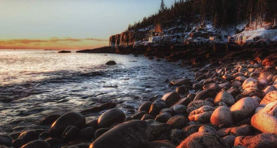 「オッター崖」アメリカ, メイン州, アカディア国立公園