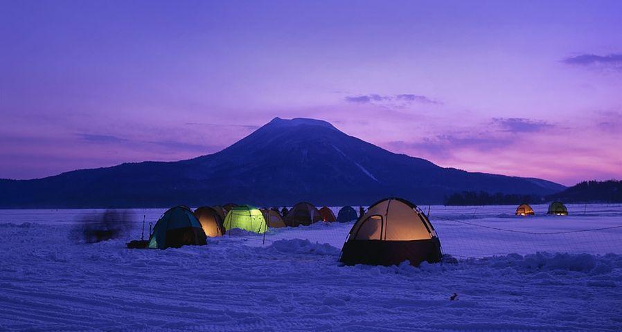 「阿寒湖のワカサギ釣り」北海道, 釧路