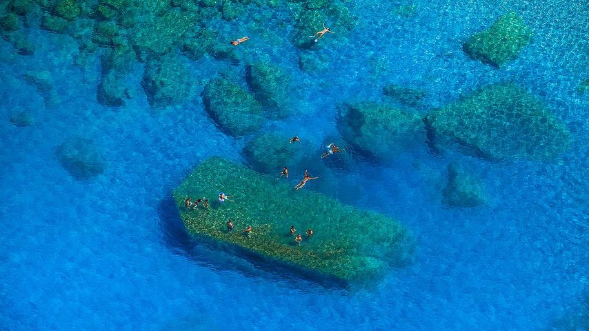 「ティレニア海沖」イタリア, シシリー島