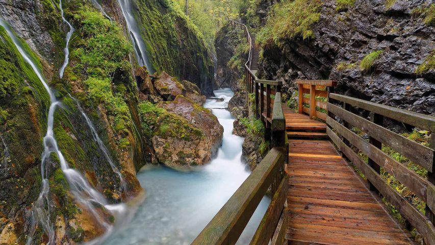 「ウィムバッハ峡谷」ドイツ, バイエルン州, ラムサウ