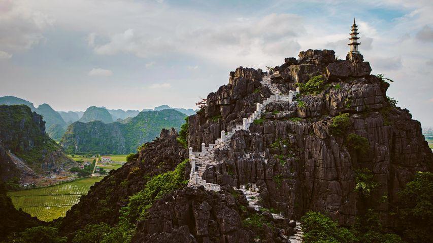 「ムア洞窟」ベトナム, ニンビン省, ホアルー県