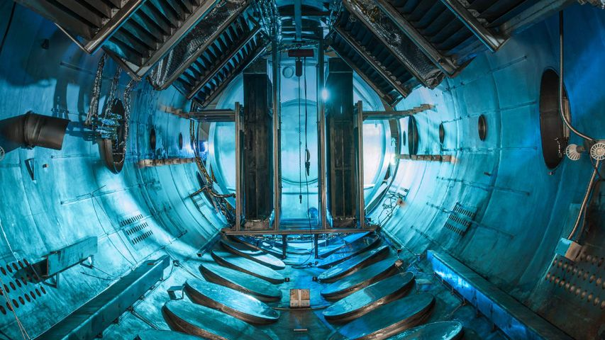 「グレン研究センターの真空実験室」アメリカ, オハイオ州