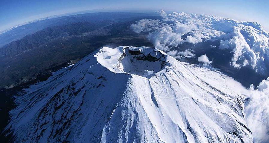 「富士山の噴火口」静岡, 山梨