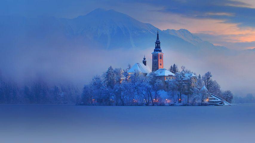 「ブレッド湖」スロベニア