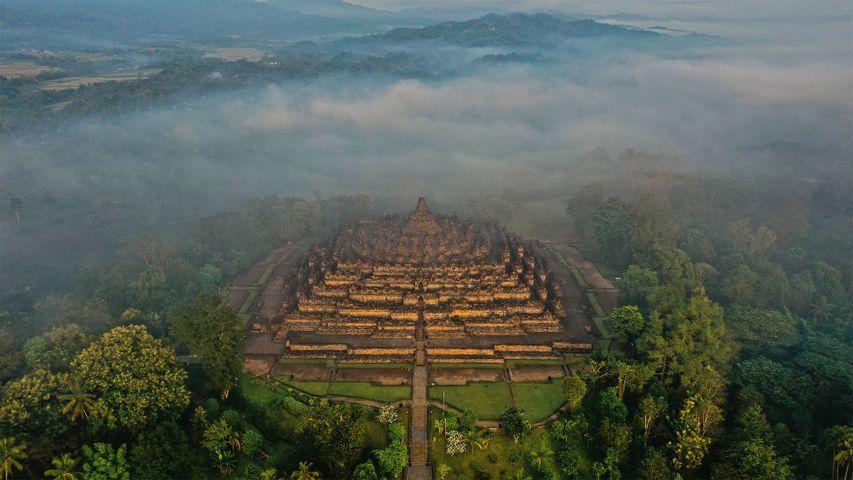 「ボロブドゥール遺跡」インドネシア, ジャワ島
