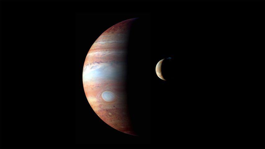 「木星と衛星イオ」