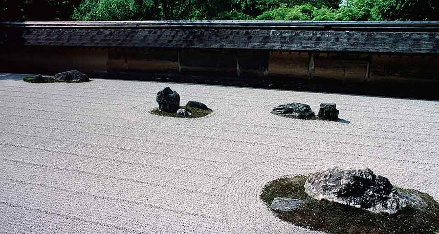 「龍安寺の石庭」京都, 右京区