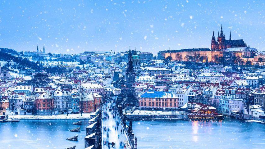 「カレル橋とプラハ城」チェコ, プラハ