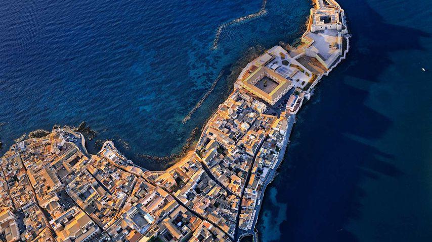 「マニアーチェ城」イタリア, シチリア島, シラクサ