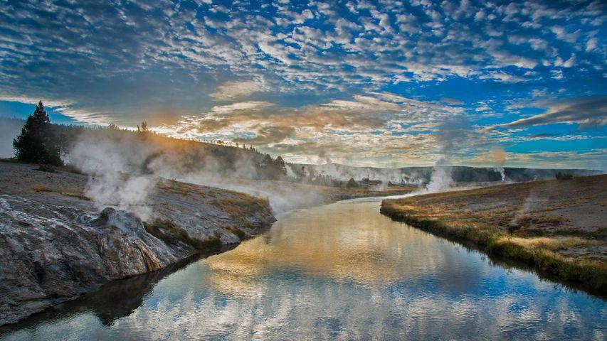 「ファイアーホール川」米国ワイオミング州, イエローストーン国立公園