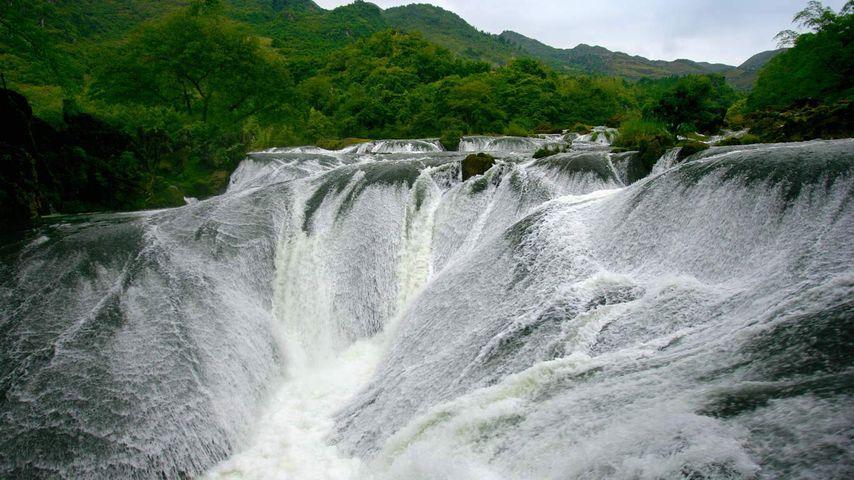 「銀鏈墜瀑布」中国, 貴州省