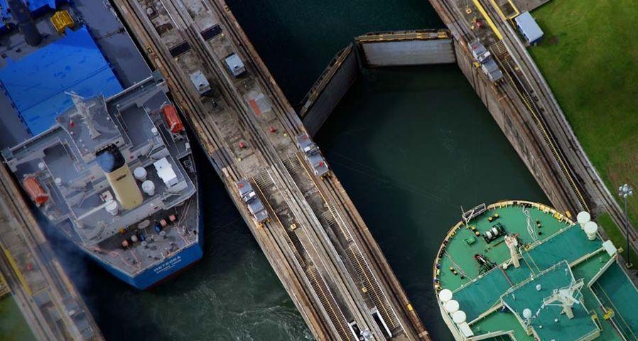 「ガツン閘門」パナマ共和国, パナマ運河