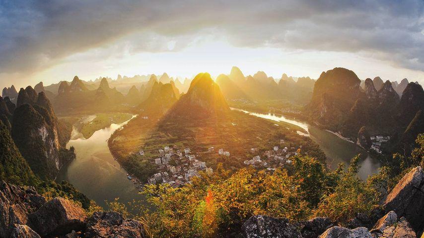 「興坪鎮」中国, 広西チワン族自治区