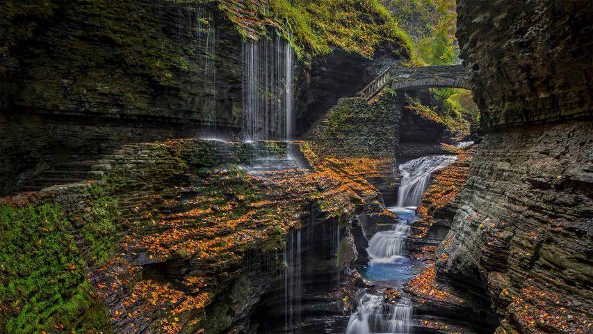 「虹の滝」米国ニューヨーク州, フィンガーレイクス